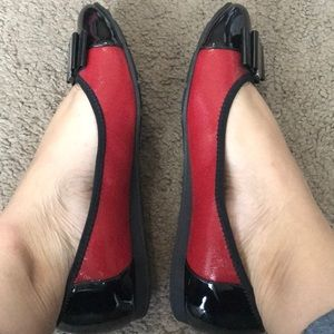 Anne Klein Sport Shoes - Red and black flats